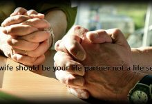 Photo of Your wife should be your life partner not a life servant